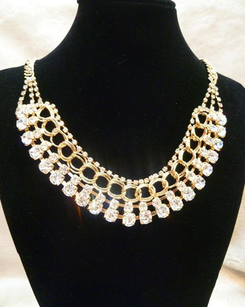 Layered Diamante Necklace (Free Shipping)