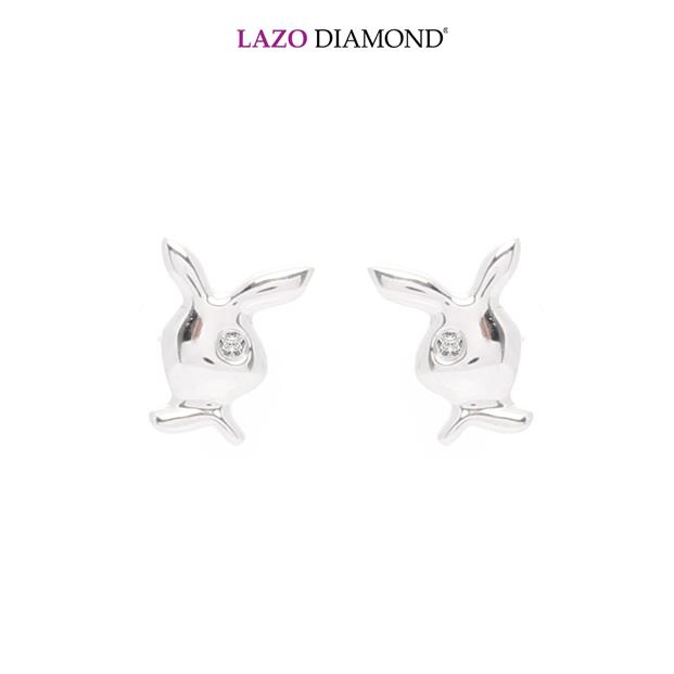 Lazo Diamond 9K White Gold Diamond Earrings - DE6260