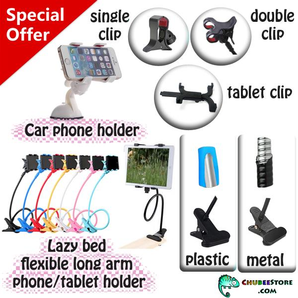 Lazy Bed Bracket universal/car mobile phone/tablet selfie stand holder