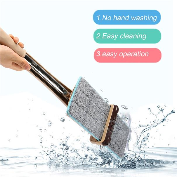 Lazy Hand wash-Free Flat Mop Hands-Free Washable Mop Washing Floor Sin