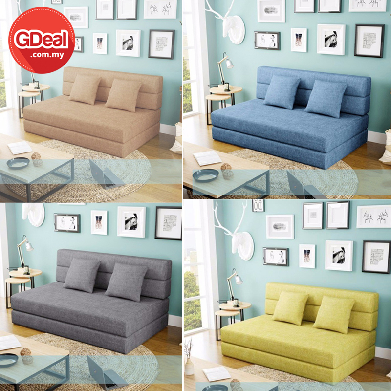 Lazy Sofa Bed Tatami Foldable Double Dual-Use Living Room