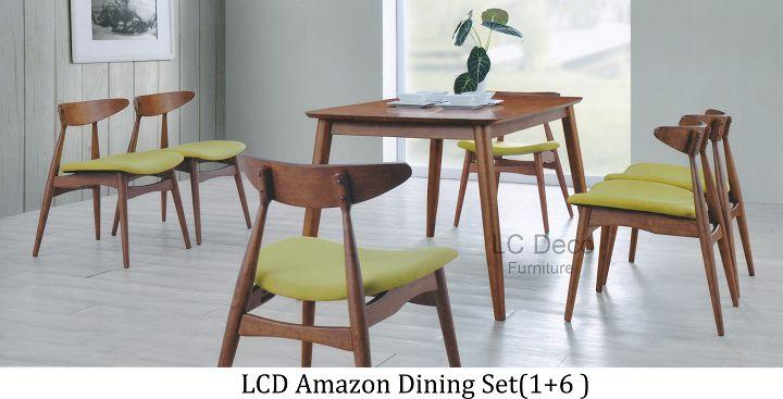 Lc Deco Dining Set 1 6 Meja Makan Kerusi