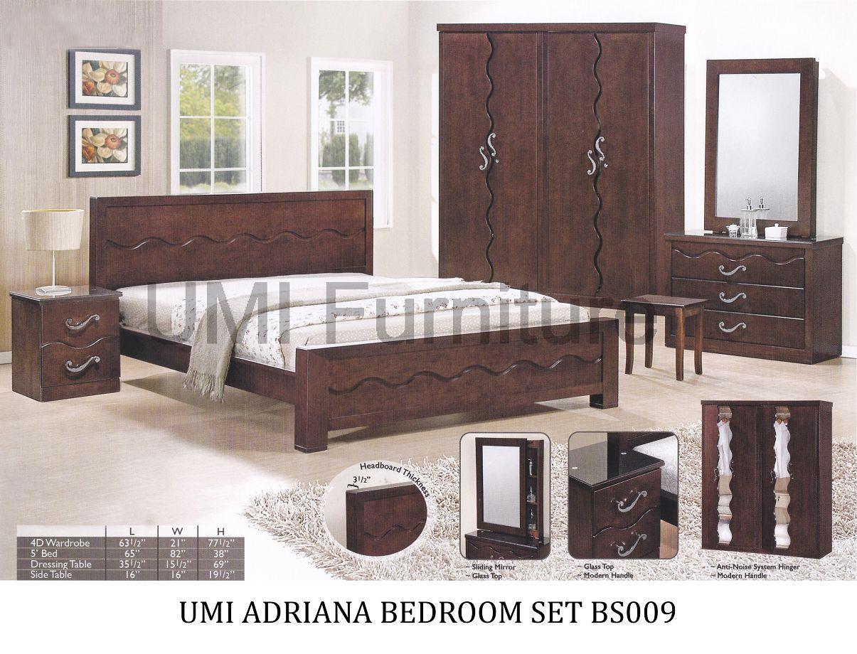 Lc Deco Bedroom Set Adriana Bs009 Bilik Tidur