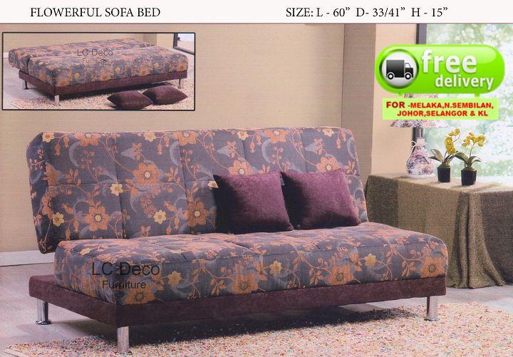 Terrific Lc Deco Sofa Bed Flowerful Katil Kerusi Evergreenethics Interior Chair Design Evergreenethicsorg