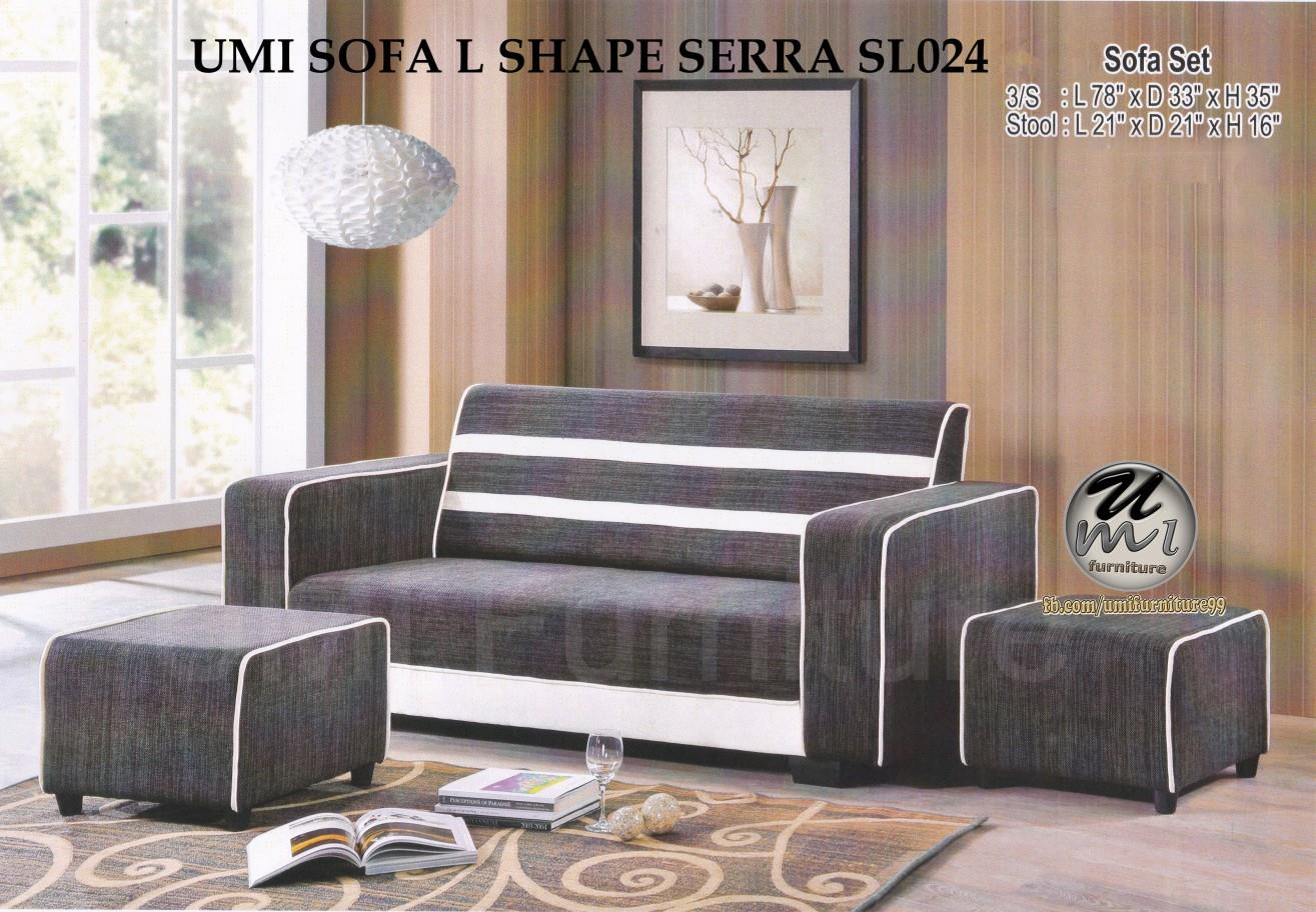 Lc Deco Sofa L Shape Serra Set Sl024kerusi Set