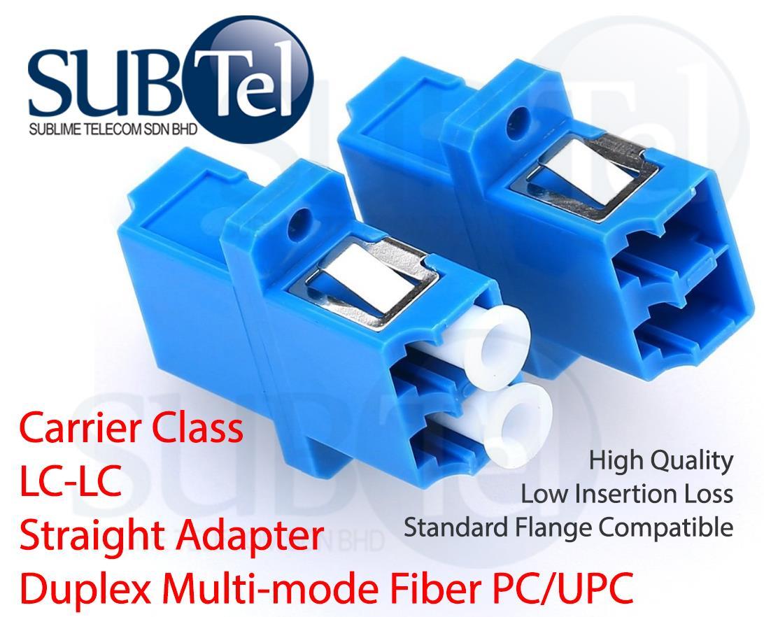 LC-LC MMF Multimode Fiber Optic Adapter Duplex Coupler