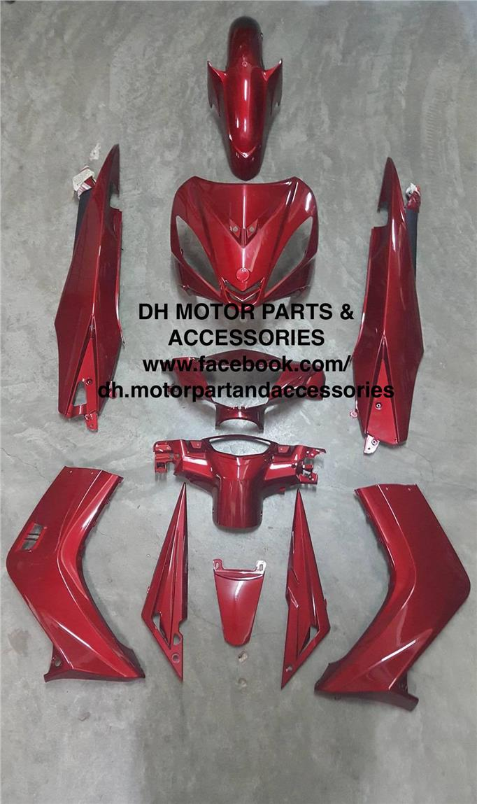 LC135 V1 55D (NO CLUTCH) COVER SET (DRMK RED)