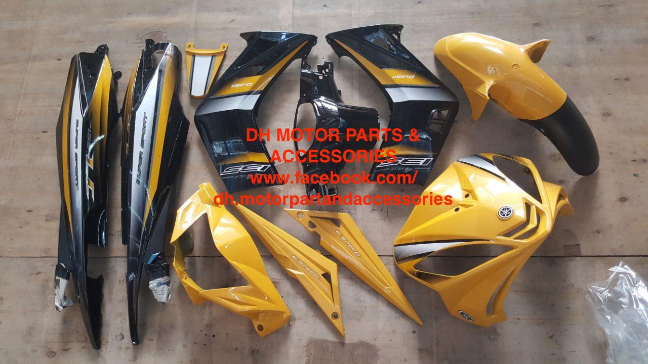 LC135 V1 55D (NO CLUTCH) COVER SET (LOYAL YELLOW+BLACK)
