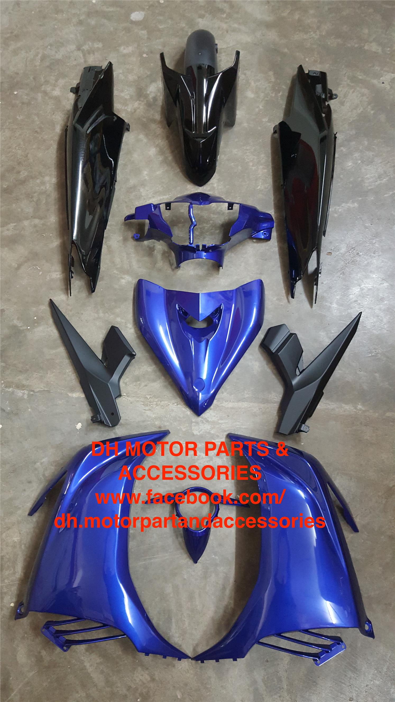 LC135 V3 55C (CLUTCH) COVER SET (DPBMC BLUE + BLACK)