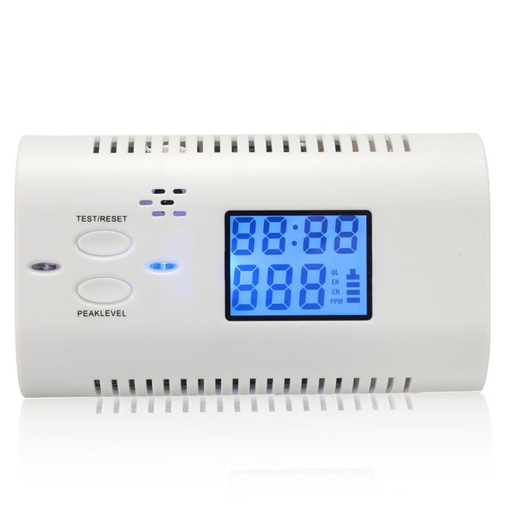 LCD CO Carbon Monoxide Poisoning Sensor Human Voice Warning Alarm Dete