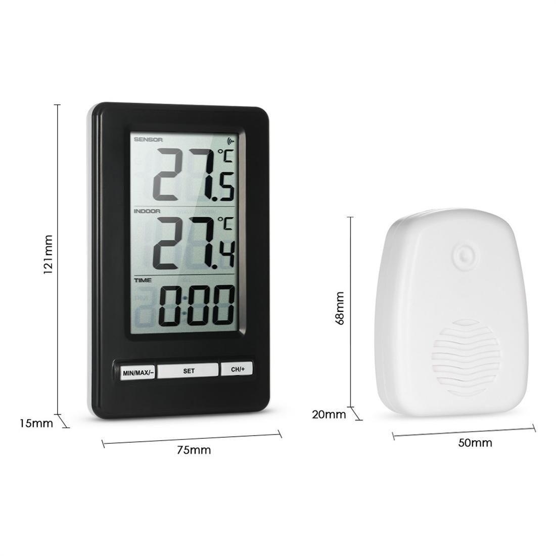LCD Digital Wireless Temperature Diplay With Clock