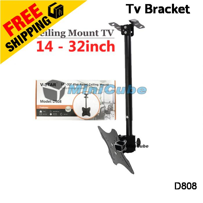 LCD LED TV Tilt Ceiling Wall Mount TV Bracket Fits Most 14-32 inch