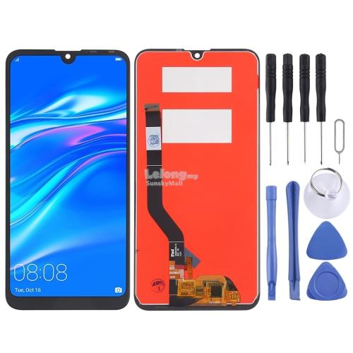 LCD Screen and Digitizer Full Assembly for Huawei Y7 (2019)(Black)