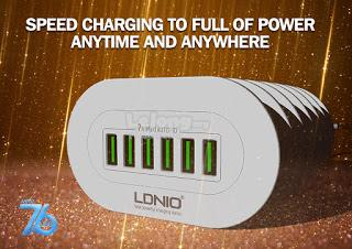 LDNIO 6 PORT USB Home Charger (Free shipping)