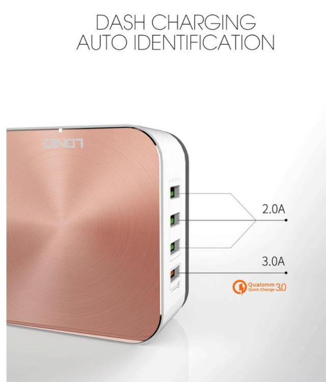 Ldnio A8101 Qualcomm Fast Charge 3.0 with 8 USB Port Desktop Charger