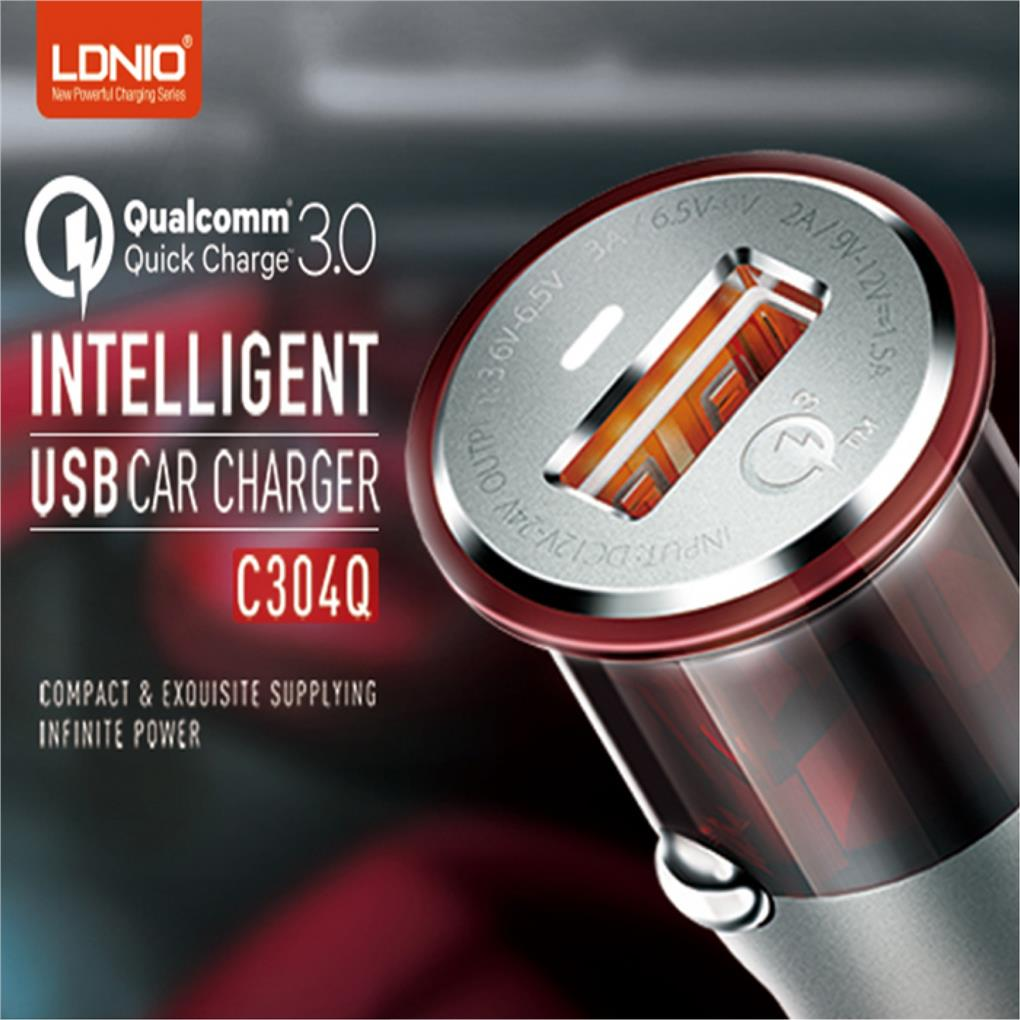 LDNIO C304Q Qualcomm Fast Quick Charge QC 3.0 USB Car Charger
