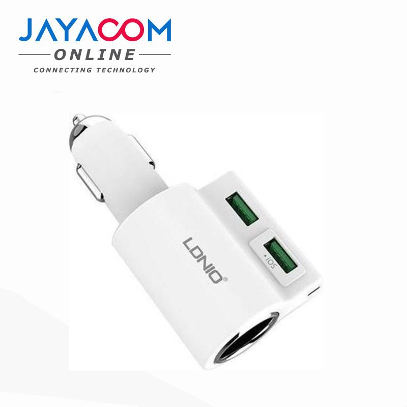 LDNIO CM10 4.2A SOCKET ADAPTER WITH 2P USB CAR CHARGER