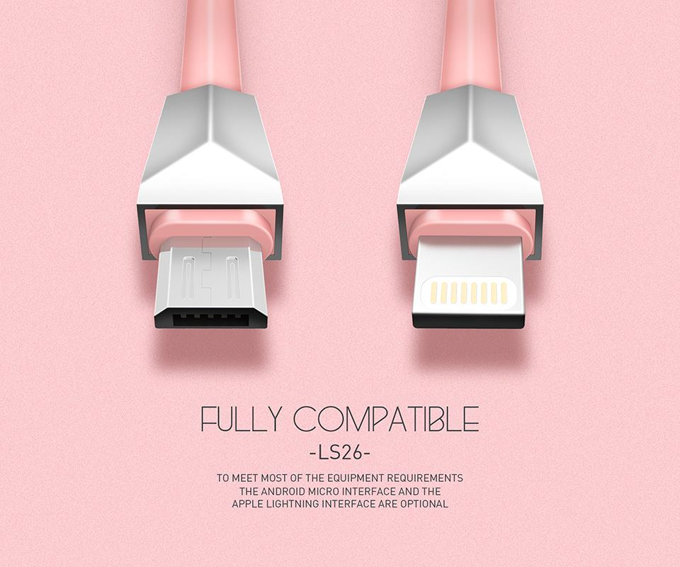 LDNIO LS26 Ligthning iPhone Apple QC 3.0 USB Data Cable
