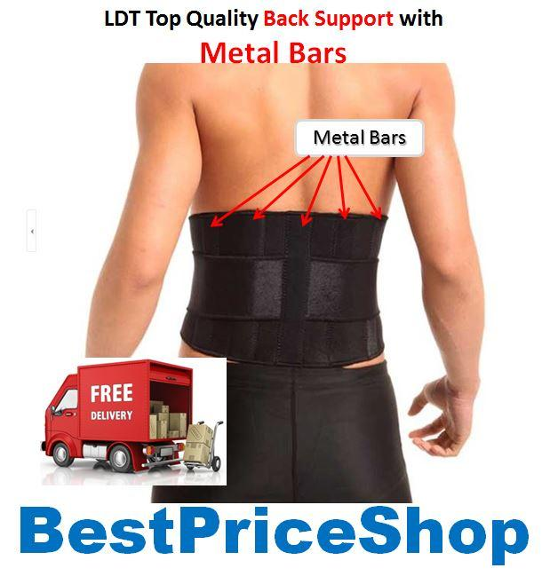 LDT Top Grade Waist Support with Metal Bars - Medical Back Protection