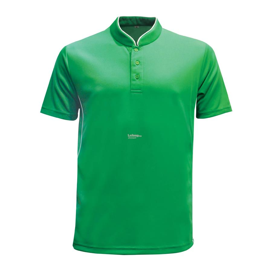 Le'Fonse Microfiber Mock Neck Jersey With Buttons M3300