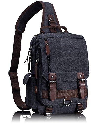 01a7aa85aca Leaper Canvas Message Sling Bag Outdoor Cross Body Bag Messenger Shoul.