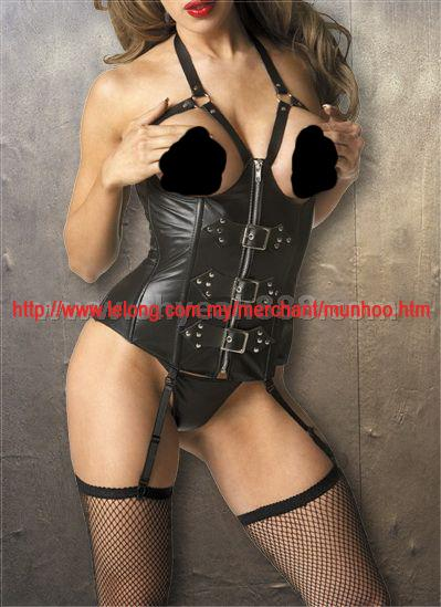 Leather Bustier Corset Lingerie Costume 9259