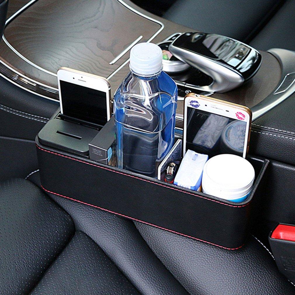 Leather Car Seat Crevice Storage Box Gap Organizing