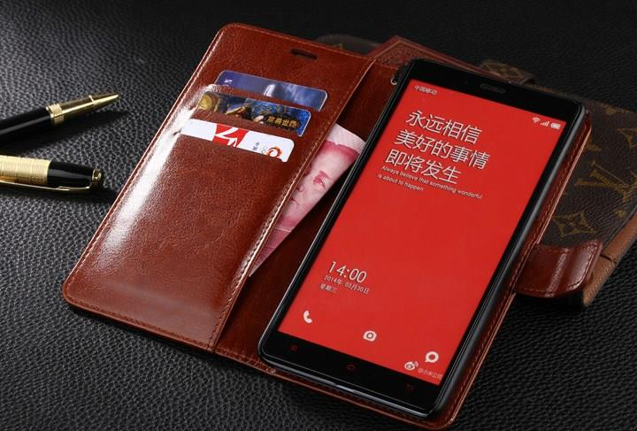 Leather Case Flip Wallet Cover Xiaomi Redmi Note 2/3/4X/5A Casing