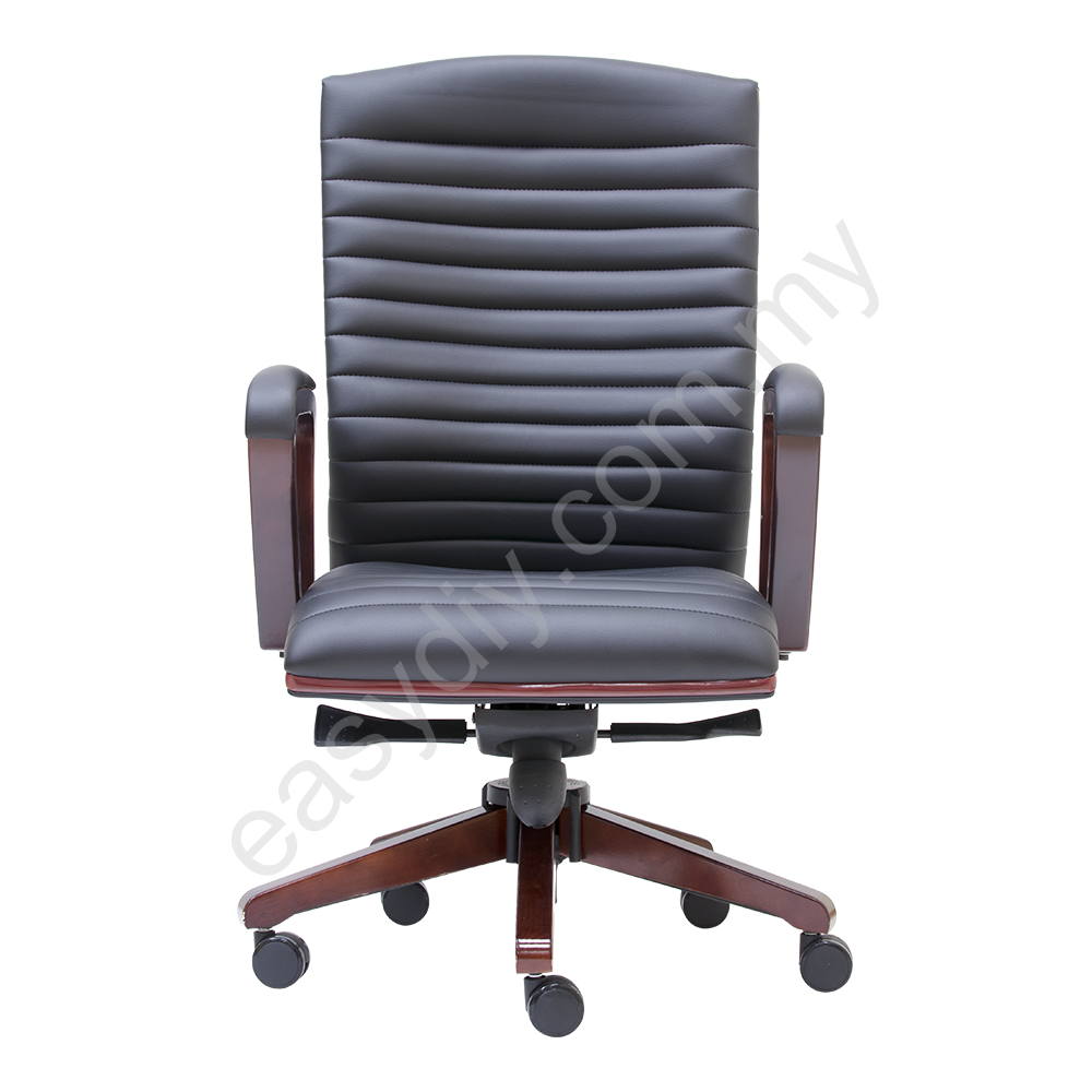 Leather / Fabric Office Chair / Gently Medium Back Chair E 2332H