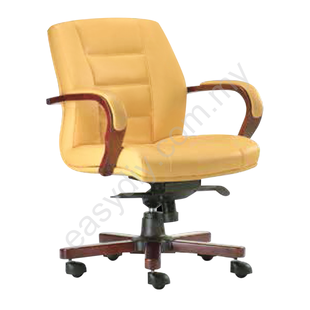 Leather / Fabric Office Chair / Vero Low Back Chair E 1033H