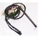 LEATHER LONG WHIP BLACK-1unit