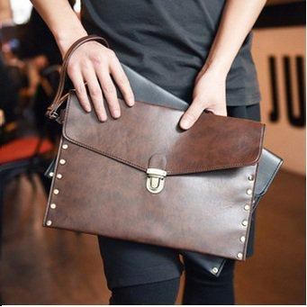 Leather Men Envelope Hand Carry Bag (end 2/3/2018 7:07 AM)