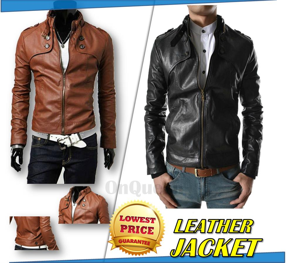 Leather Stylish Men Blazer Leather J (end 2/18/2019 4:15 PM)