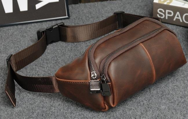 Leather Waist Pouch Bag Wallet Belt Sling For Men 2017