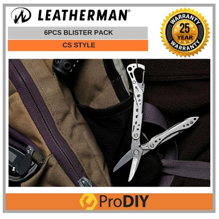 LEATHERMAN - Style CS Multi-tool Stainless Steel 6Pcs Blister Pack