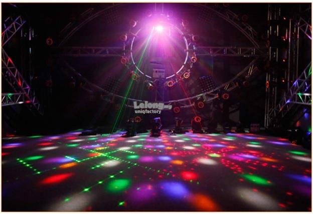 LED 4 in 1 Laser Flash Strobe Butterfly Derby DMX Disco KTV DJ Light