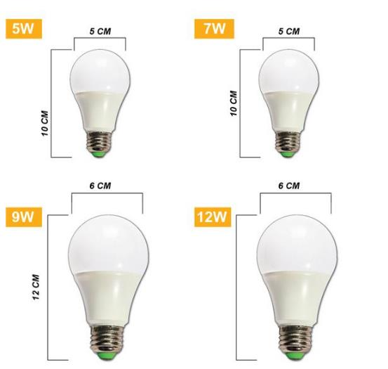 LED Bulb 5W 7W 9W 12W 15W Bright Dark Store Indoor Home Decoration