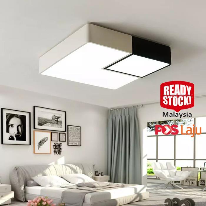 LED ceiling lamp modern square living room lamp RC Diammable Light