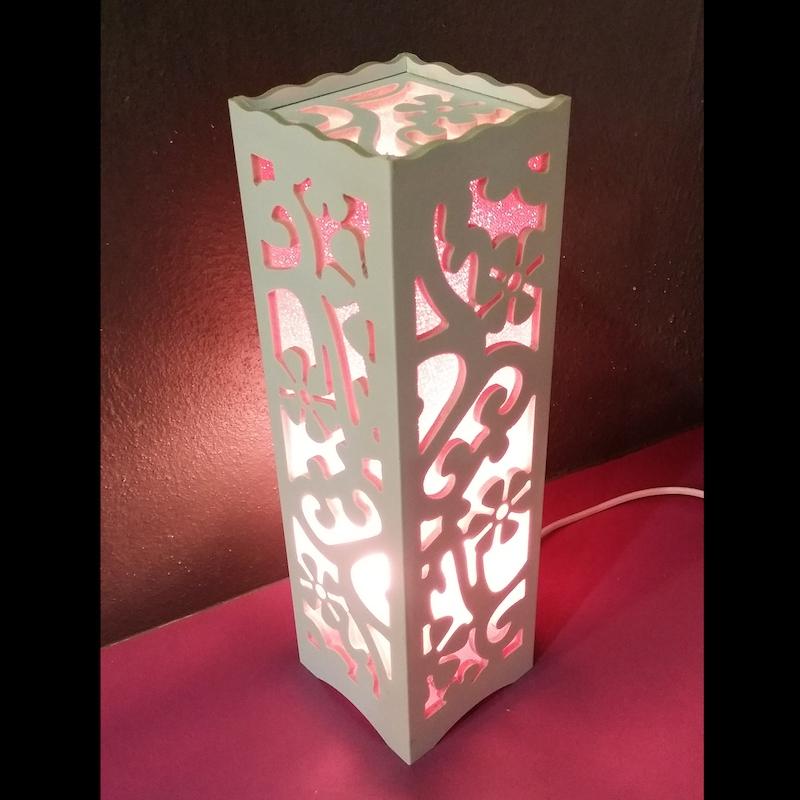 Led Flower Wooden Table Lamp Fl Lovely Design Desk Home Writing St