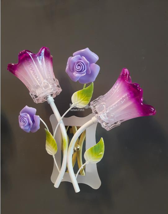 Led glass flower wall light 8702 2 end 2212018 115 pm led glass flower wall light 8702 2 aloadofball Images