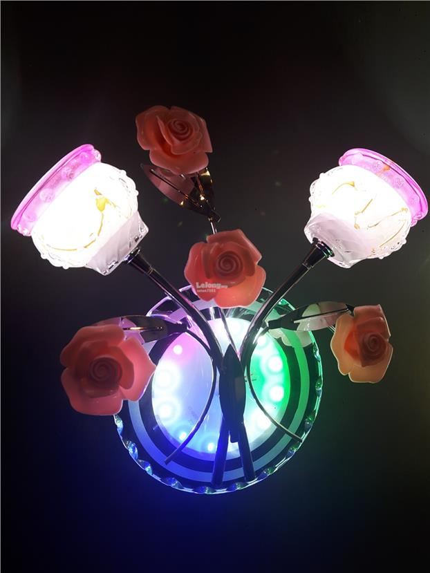 Led glass flower wall light led glass flower wall light aloadofball Gallery