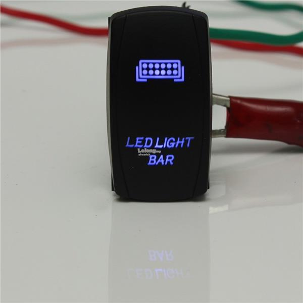 LED Light Bar ON/OFF Rocker Switch Wiring Harness Kit 40A Relay For on