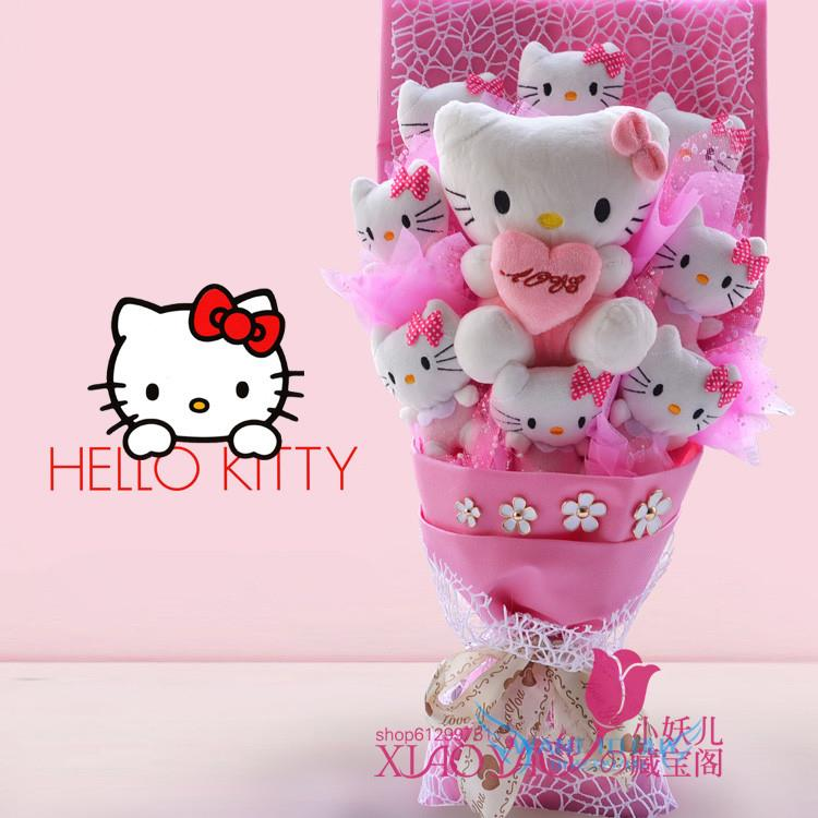 LED Light Hello Kitty bouquet birth end 9132018 1115 PM