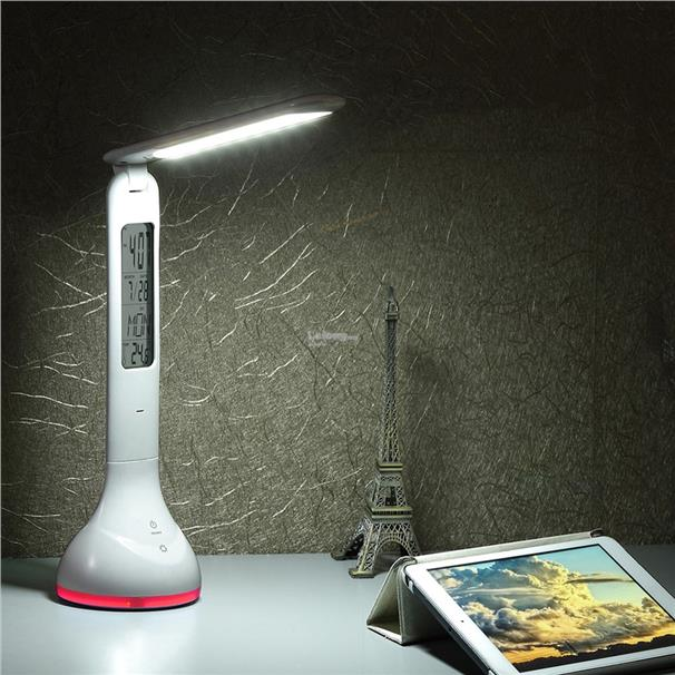 LED Touch Dimmer Desk Lamp USB Rechargeable Student Study Reading Lamp