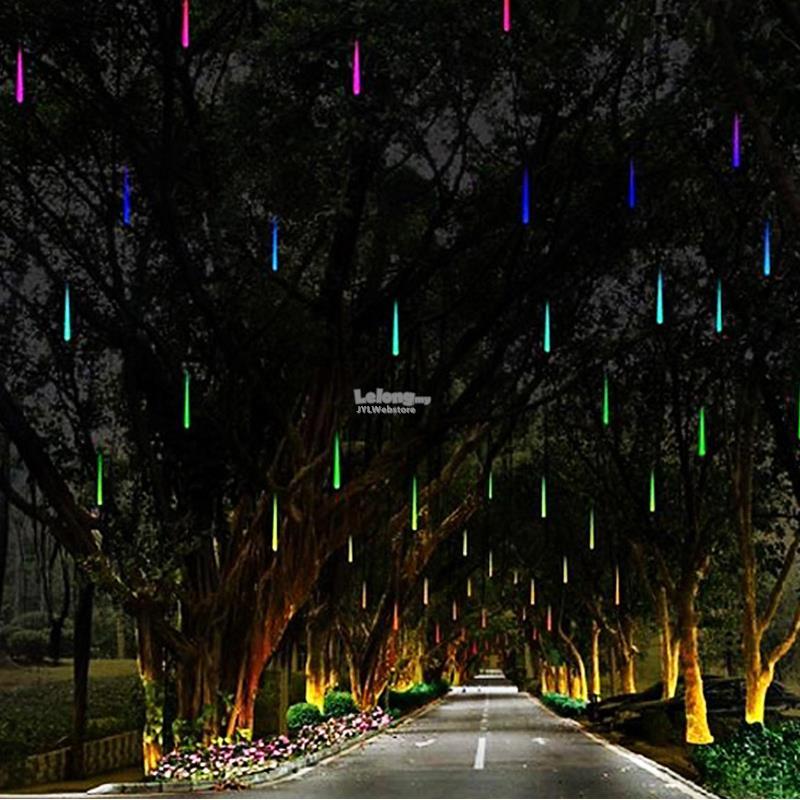 led waterproof snowfall meteor light christmas lights outdoor 100 240v - Meteor Christmas Lights