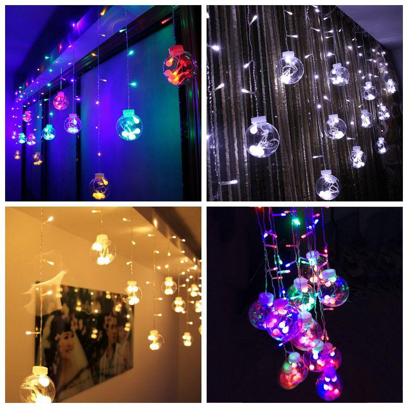 Led System Weihnachtsbeleuchtung.Led Wish Ball Curtain Lights Wedding Room Decoration