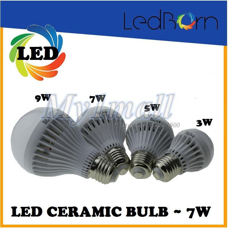 LedBorn LED Bulb Ceramic Body 7W E27 Daylight (White)