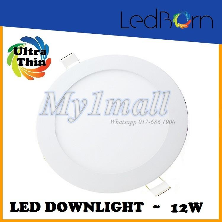 LedBorn LED Downlight 12W Round Daylight (White) 2yr warranty