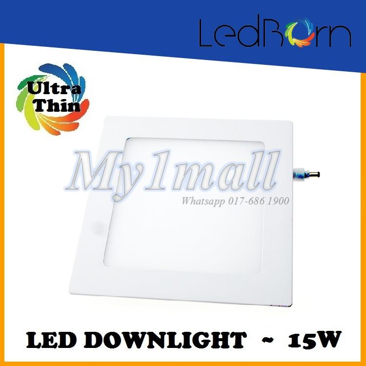 LedBorn LED Downlight 15W Square Daylight (White) 2yr warranty