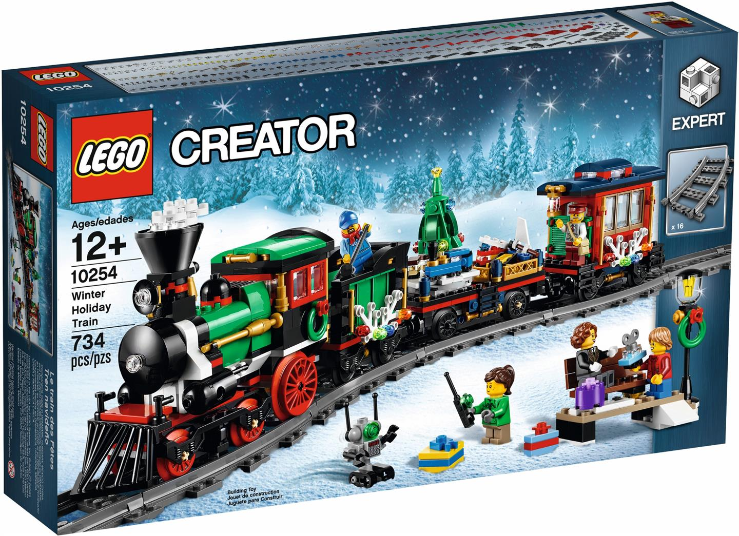 lego 10254 creator christmas winter holiday train new misb